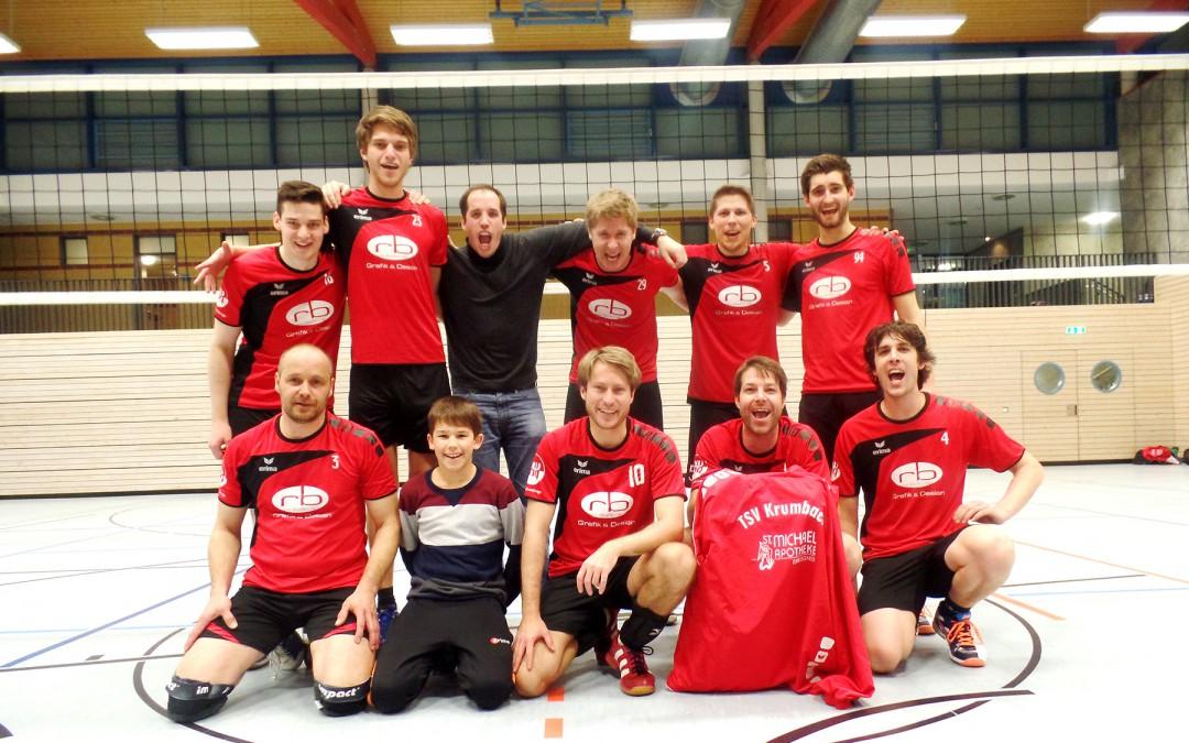 Krumbachs Volleyballer feiern im zweiten Jahr den zweiten Meistertitel